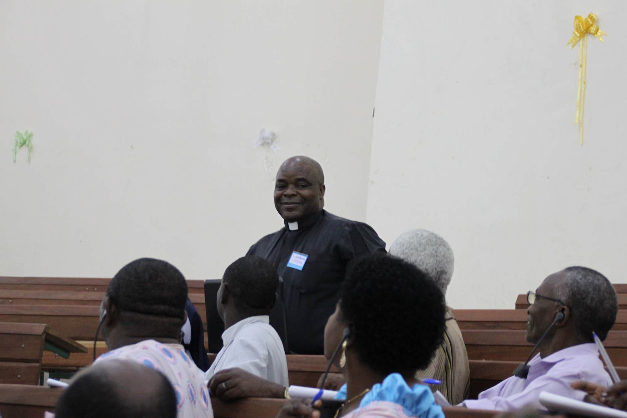 Presentation of the represenant of SECAM, Father Joseph Komakoma  2011