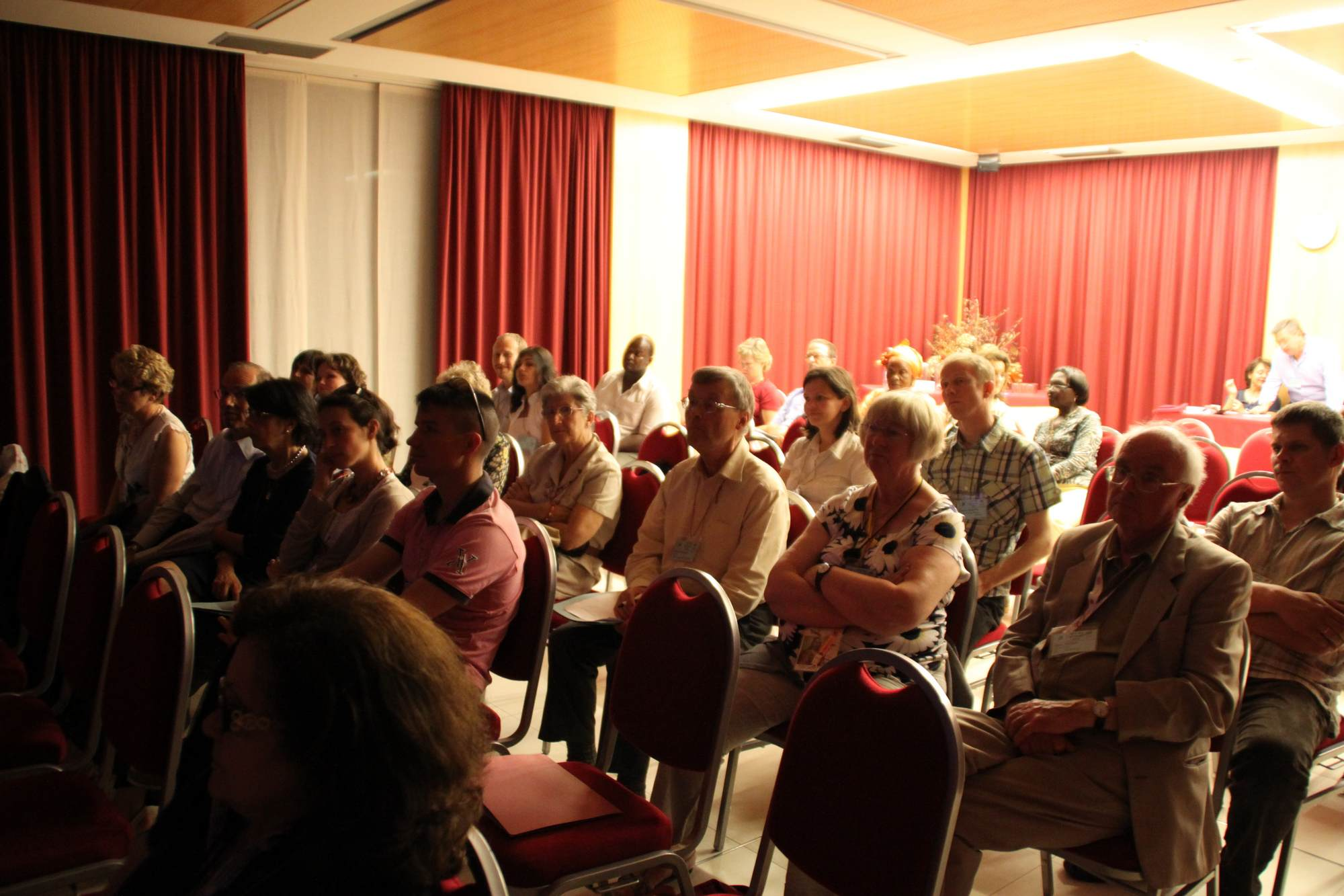 Participants to an evening session 2012