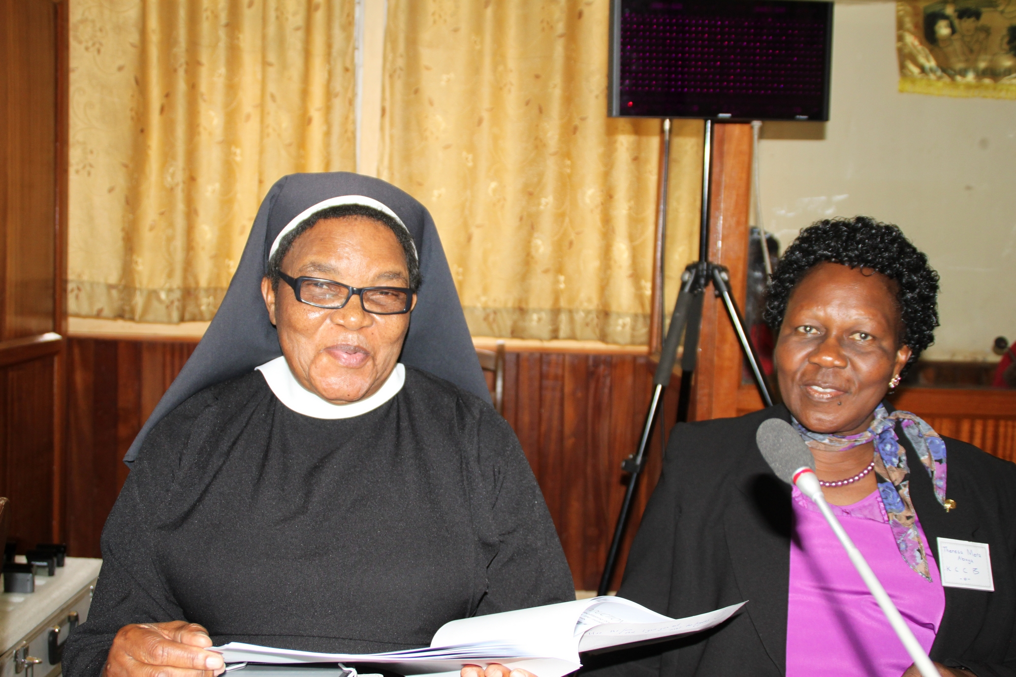 Sr Priscilla Dlamini, Teresa Abuya during the sessions 2015